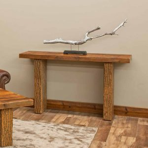 Birchmere Sofa Table-Walnut Waterfall Top-TM Designs 8977270-WWT