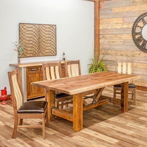Harvest Reclaimed Barn Wood Dining Table-TM Designs 303052-WFT