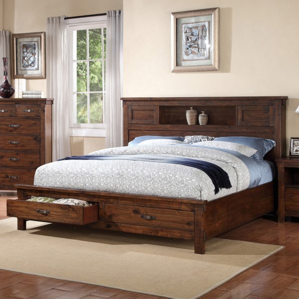 Restoration Urban Rustic Queen Bed LF-ZRST-701-7-8-QB