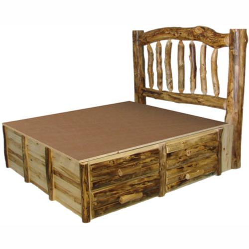 aspen log platform bed