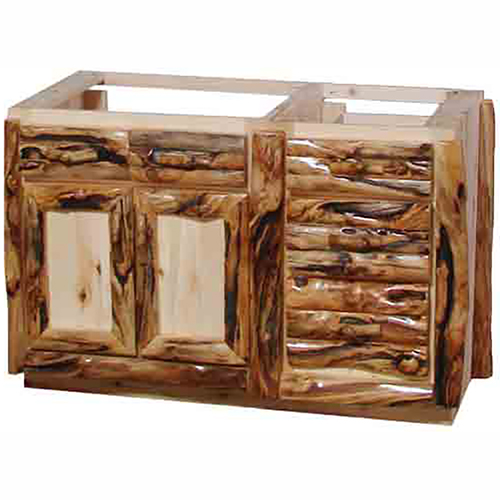 Aspen Log Vanity