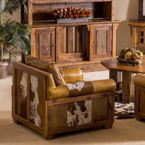 Remington Reclaimed Barn Wood Open Chair - Plainsman 6571410-C