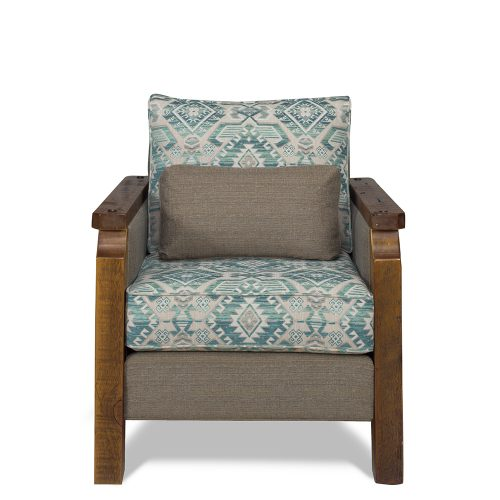 Heritage Reclaimed Barn Wood Chair - Aqua 638390-C