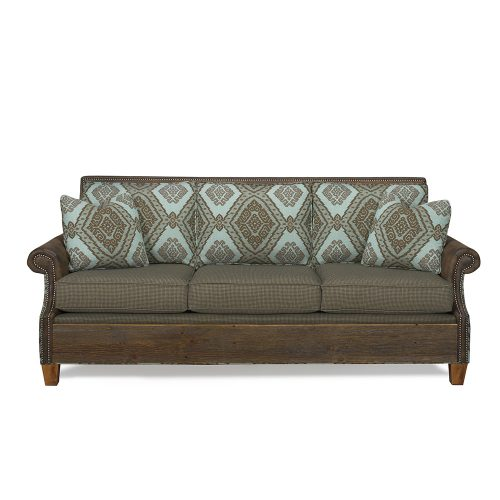 Norfolk Reclaimed Barn Wood Sofa - Mist 6092420-SF