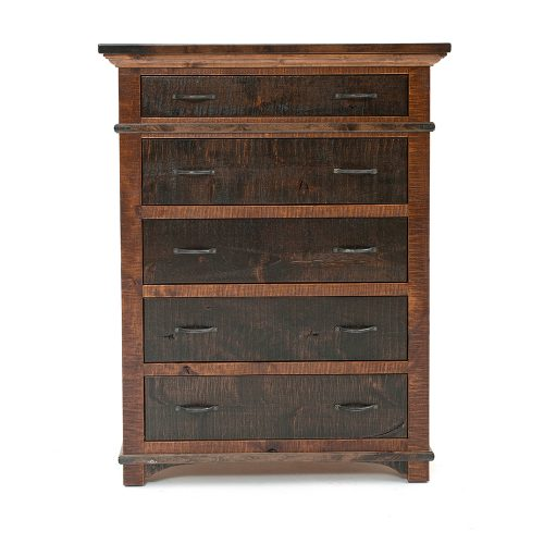 Glen Falls Reclaimed Barn Wood 5 Drawer Chest 21427
