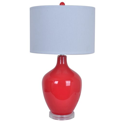 Avery Red Table Lamp CVABS811C