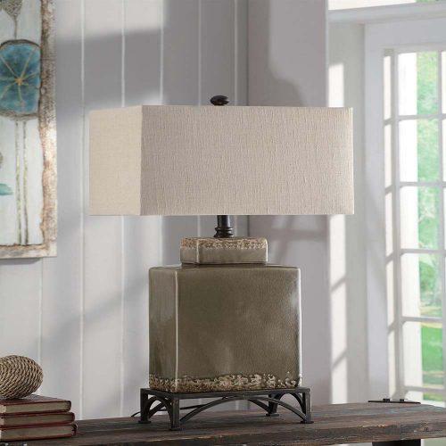"Tuscan Pottery Table Lamp 34""Ht CVAP1483"