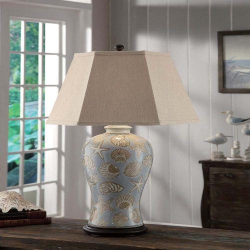 """Seashell Table Lamp 32""""Ht CVAP1610"""