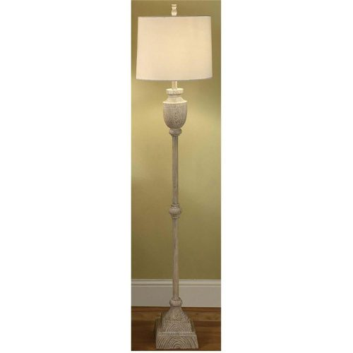 Avalon Carved Wood Floor Lamp cvaup524