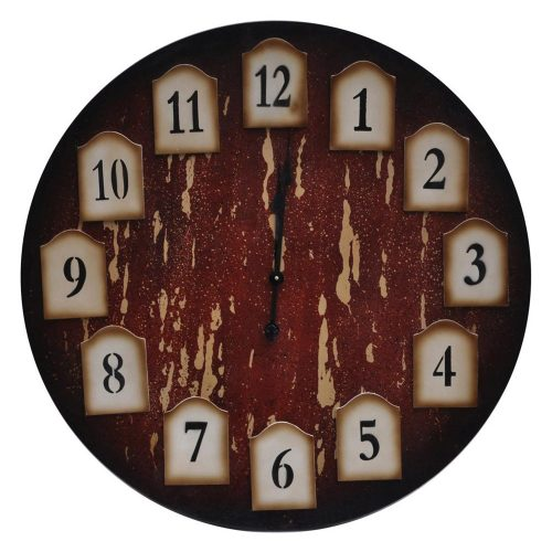 Distressed Redwood Clock CVTCK1062