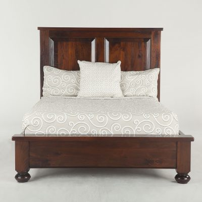 New Colonial Plantation King Bed, round leg, light FCP-PBKRLL