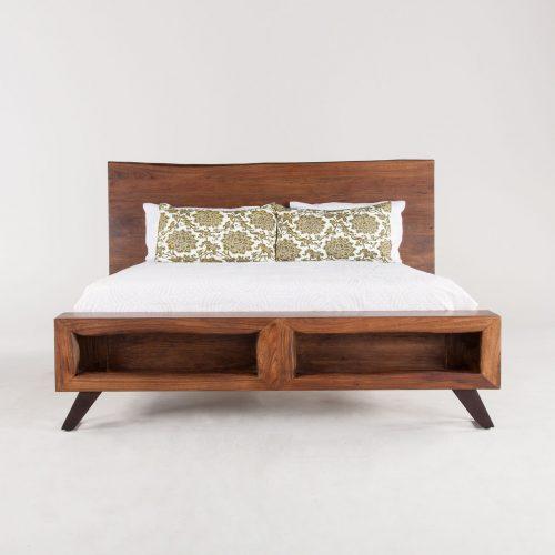 New London Loft Walnut King Bed FLL-PBKWN