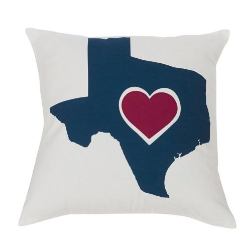 Texas Heart Pillow PL3125