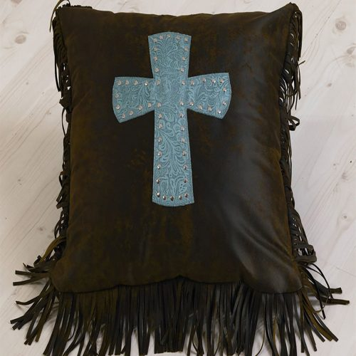 Cheyenne Turquoise Cross Pillow WS4001P2-OS-TQ