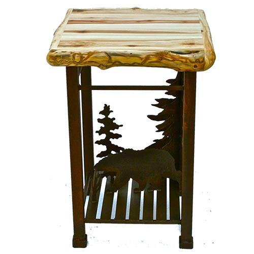 aspen metal end table