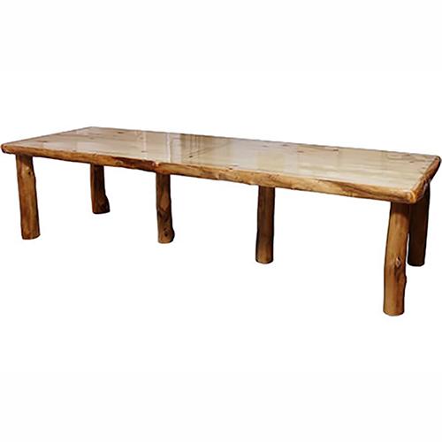 aspen log dining table
