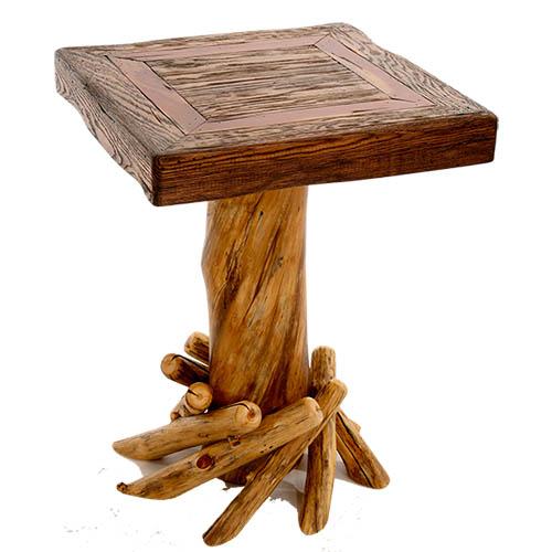 aspen walnut end table