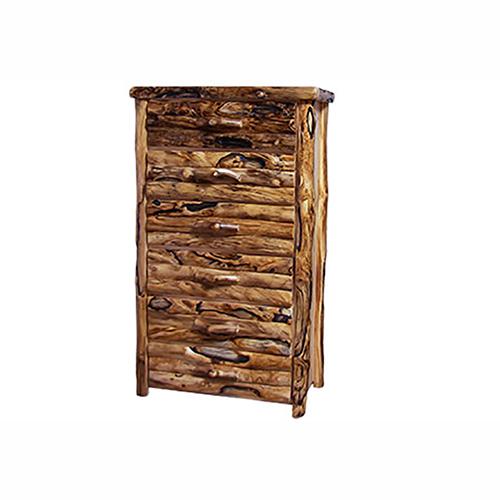 aspen log 6 drawer chest