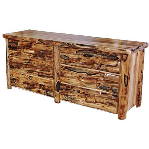 aspen log gnarly dresser