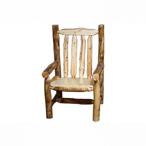 aspen log arm chair