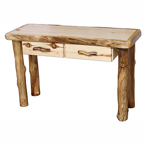aspen log sofa table