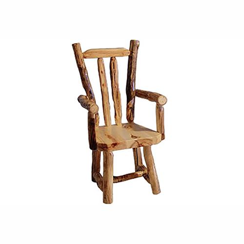 aspen log v-back chair