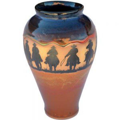 Cowboy Roundup Slender Vase 165CowboyRoundup