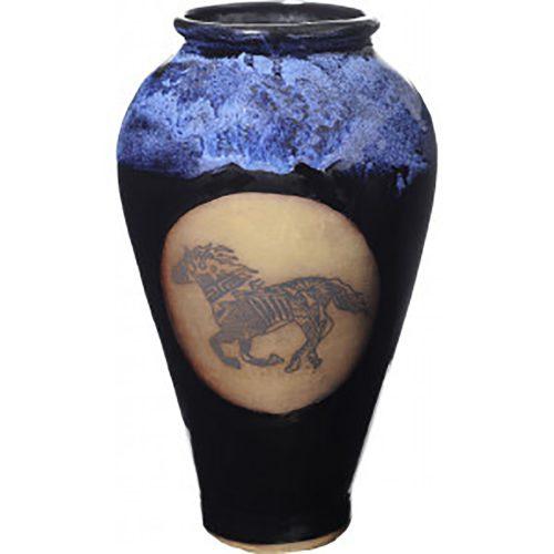 Southwest Running Horse Slender Vase 165SWRunningHorse