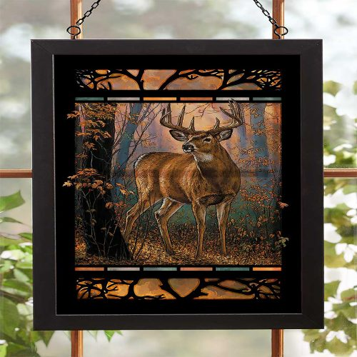Woodland Mist-Deer Stained Glass 5386498025