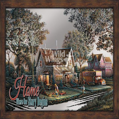 Home; Where Our Story Begins Framed Mirror 5386493025