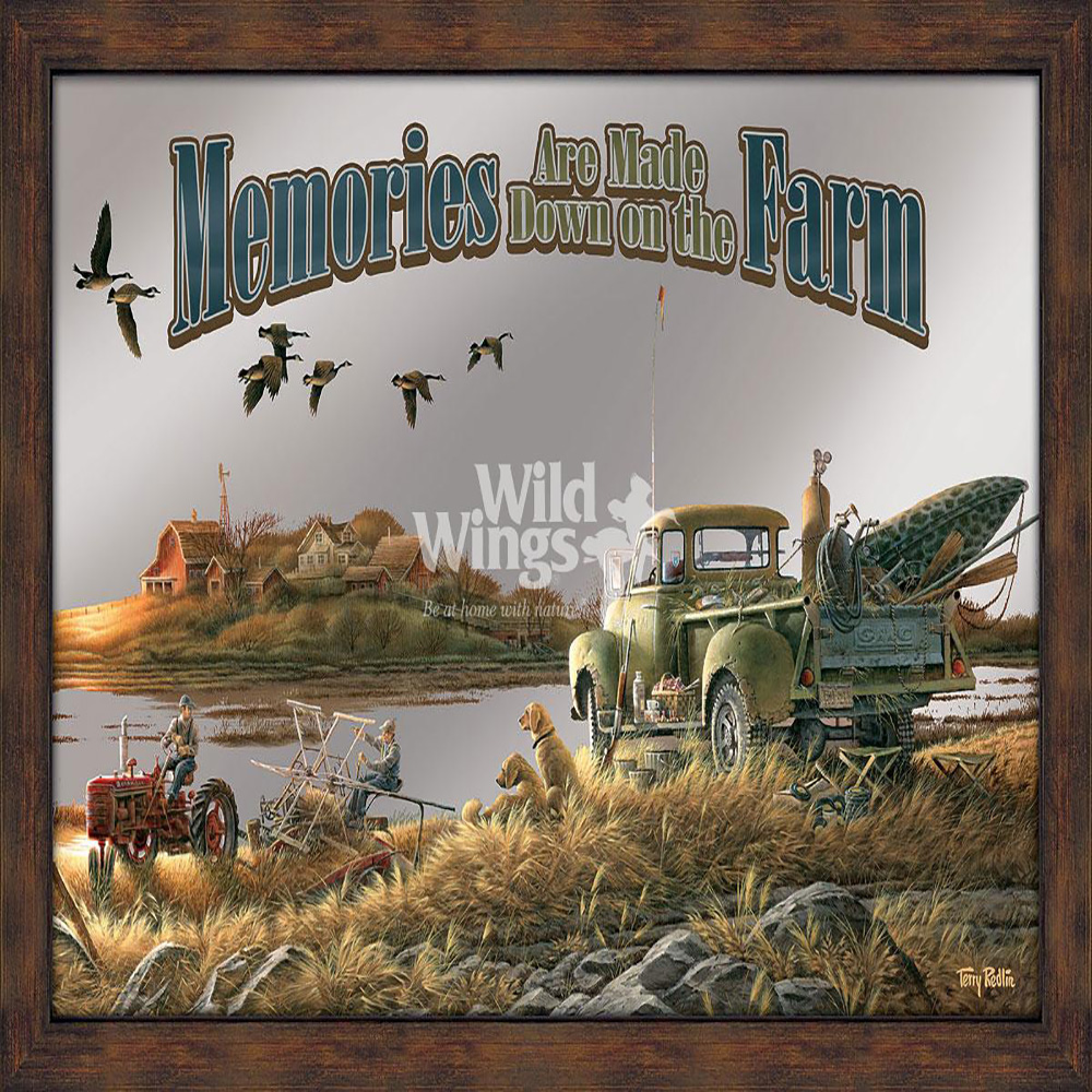 Memories Are Made Down on the Farm Framed Mirror 5386493021