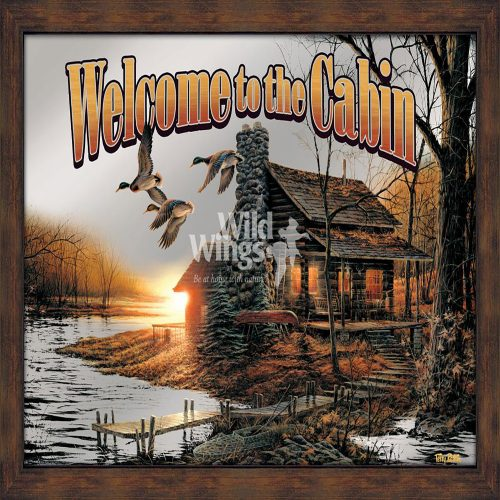 Welcome to the Cabin Framed Mirror 5386493019