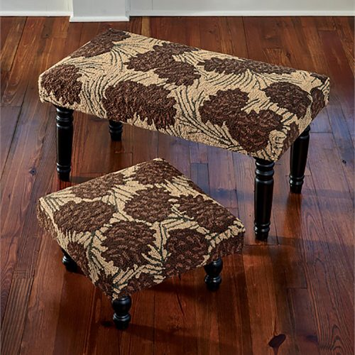 Walk In The Woods Hooked Pine Cone Stool