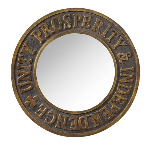 Round Unity Prosperity & Independence Mirror