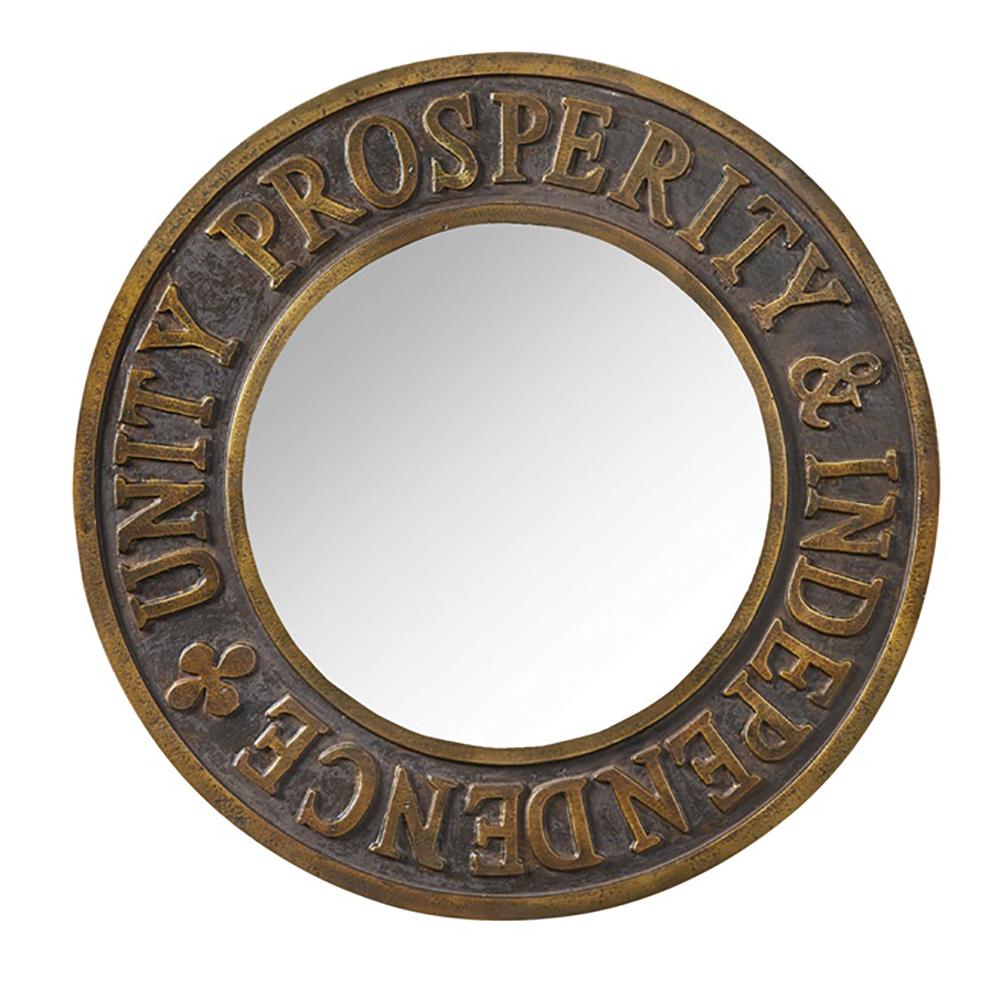 Round Unity Prosperity & Independence Mirror