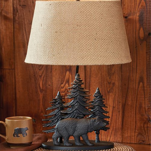 Black Bear Lamp with Shade