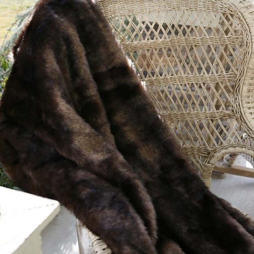 Brown Bear Fur Throw JB1803