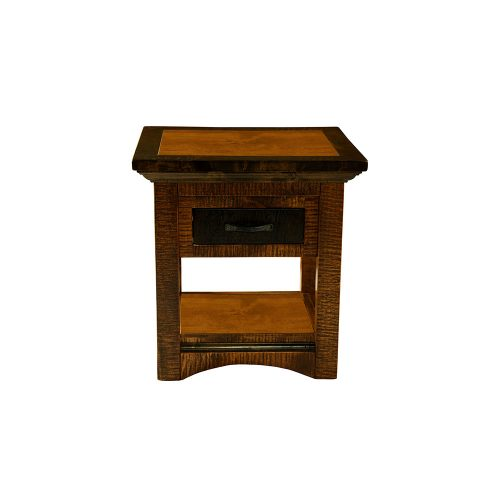 Chesapeake Reclaimed Barn Wood Side Table 47210