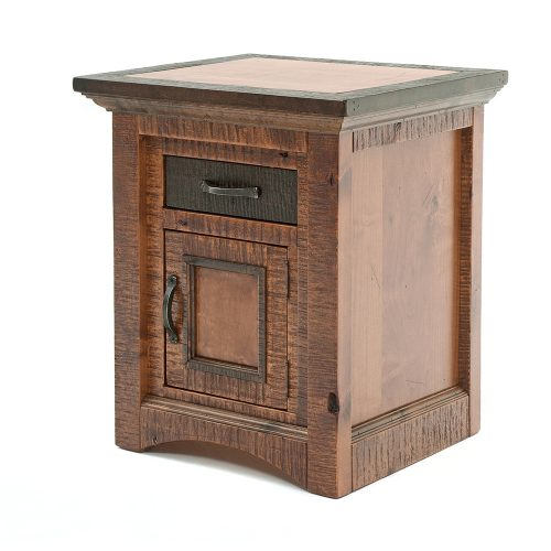 Chesapeake Reclaimed Barn Wood 1 Door 1 Drawer Nightstand 47416