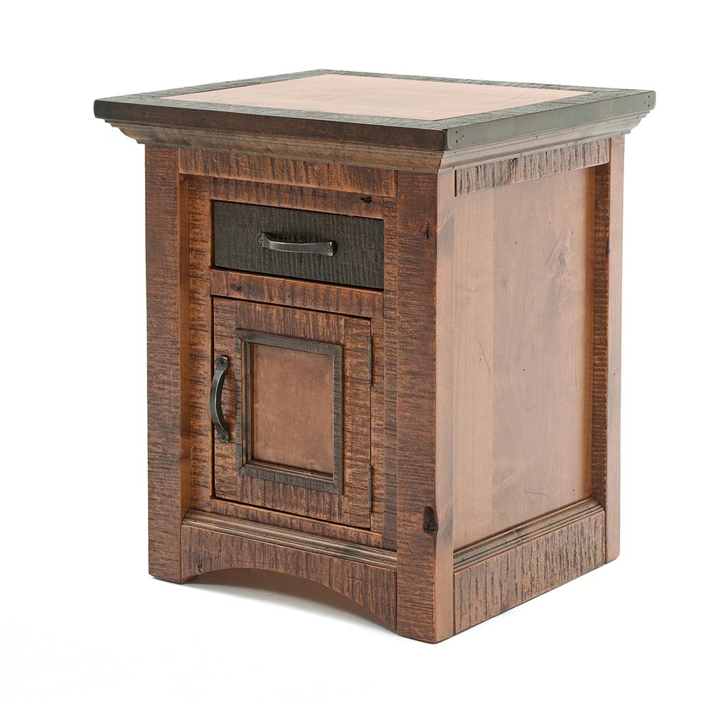 Chesapeake Reclaimed Barn Wood 1 Door 1 Drawer Nightstand 47416
