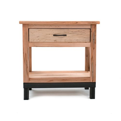 Denver 1 Drawer Nightstand – Solid Maple Wood -Metal Legs 88415-MM