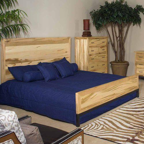 Denver Bed – Solid Maple Metal Legs 88440