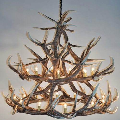 Large Faux Antler Chandelier