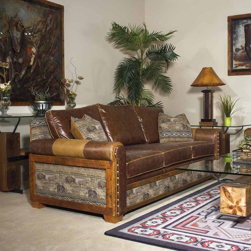 Remington Reclaimed Barn Wood Open Sofa – Apache 6071410-SF-TM