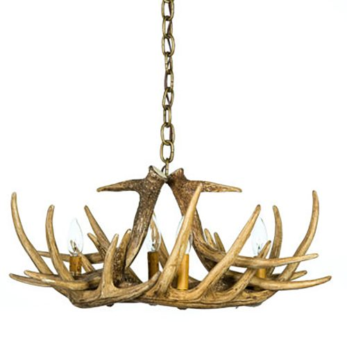 small Faux antler chandelier