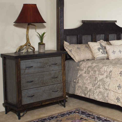 Hill Country Reclaimed Barn Wood 3 Drawer Chest 36148