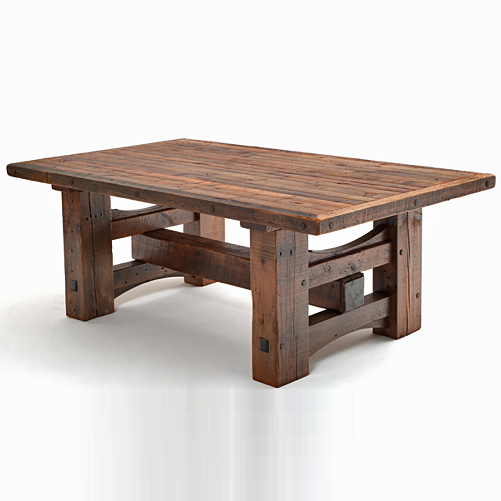 Timber Frame Barn Wood Dining Table Logfurnitureplace: Stony Brook Reclaimed Barn Wood Laredo Dining Table