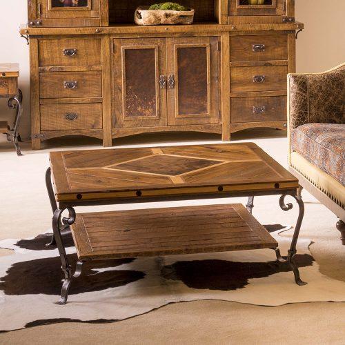 Durango Reclaimed Barn Wood Coffee table-Iron Legs 720