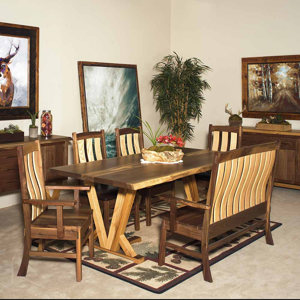 Ashcroft Reclaimed Barn Wood 7 Dining Table