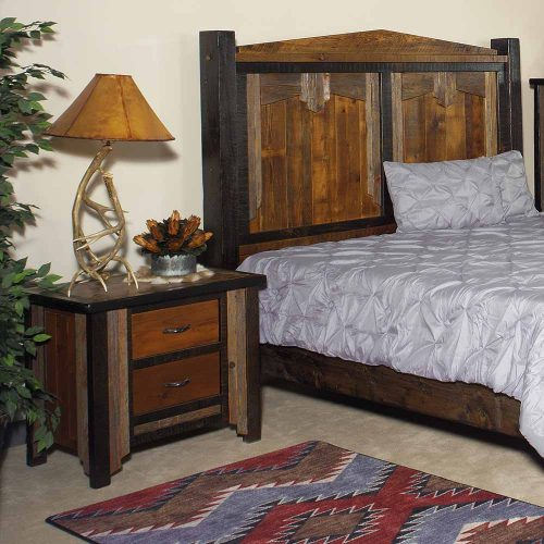 Cody Reclaimed Barn Wood 2 Drawer Nightstand 29405